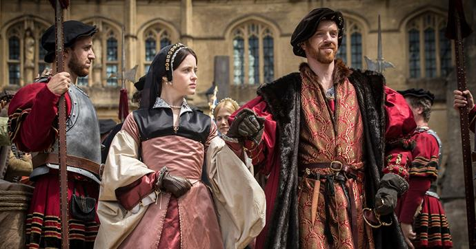 **6. Wolf Hall** <br><br> Before Claire Foy took on the role of Queen Elizabeth II, she played a queen in another hit show: *Wolf Hall*. This series reimagines the life of Anne Boleyn on screen, including her tumultuous marriage to King Henry VIII and the events which led to her execution. Her co-star? Damian Lewis who, like Foy, makes it into this list twice.