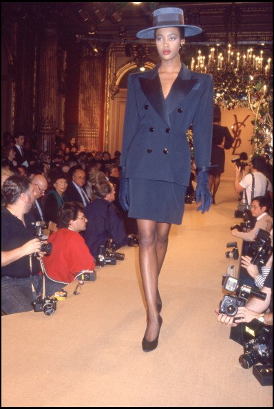 Campbell's first runway appearance: Yves Saint Laurent 1988 Spring/Summer Ready-To-Wear
