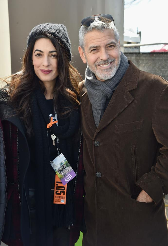 George and Amal Clooney   Image: Getty