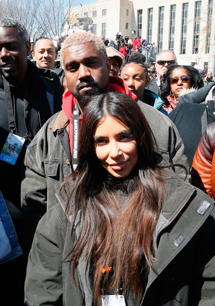 Kim Kardashian and Kanye West   Image: Getty
