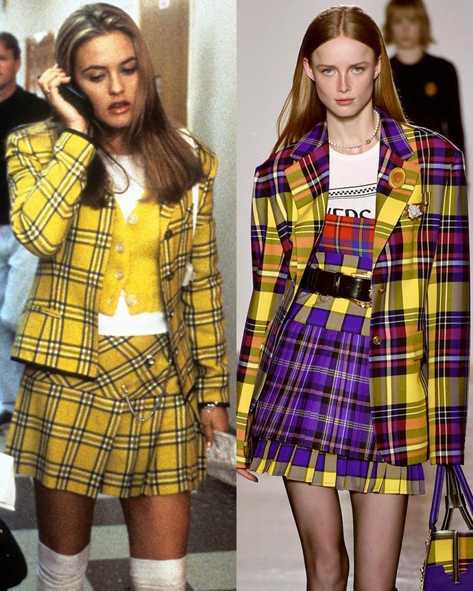 Left: *Clueless* (1995); Right: Versace autumn/winter '18