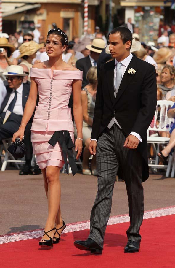 Charlotte Casiraghi at the wedding of Prince Albert II of Monaco to Princess Charlene of Monaco