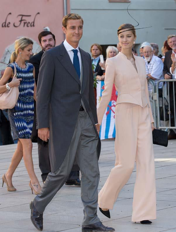 Pierre Casiraghi and Beatrice Borromeo at the wedding of Prince Felix of Luxembourg and Claire Lademacher