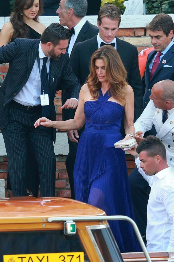 Cindy Crawford at the wedding of George Clooney and Amal Clooney
