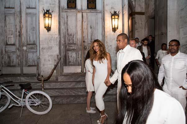Beyoncé and Jay-Z at the wedding of Solange Knowles