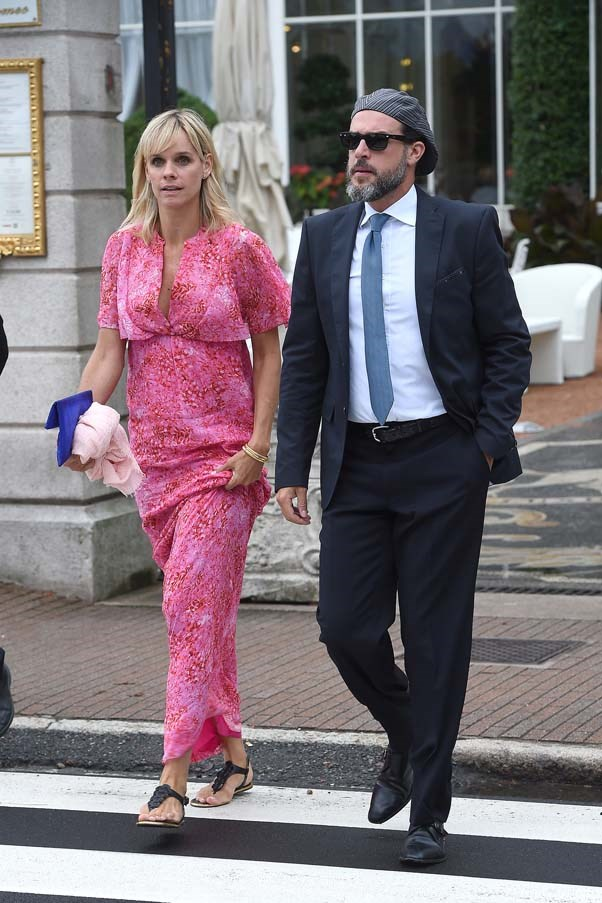 Guests at the wedding of Beatrice Borromeo and Pierre Casiraghi