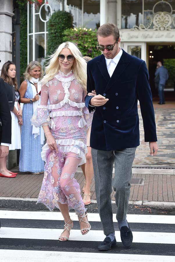 Poppy Delevingne at the wedding of Beatrice Borromeo and Pierre Casiraghi