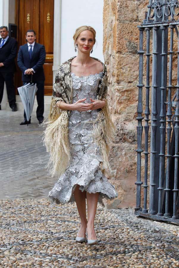 Lauren Santo Domingo at the wedding of Lady Charlotte Wellesley and Alejandro Santo Domingo
