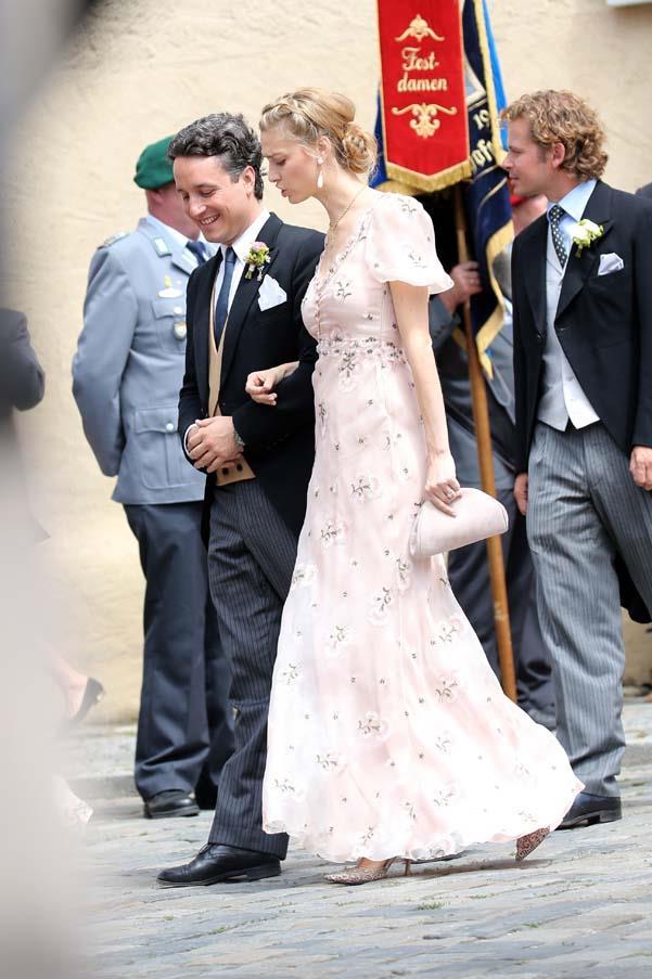 Beatrice Borromeo at the wedding of Prince Franz-Albrecht zu Oettingen-Spielberg
