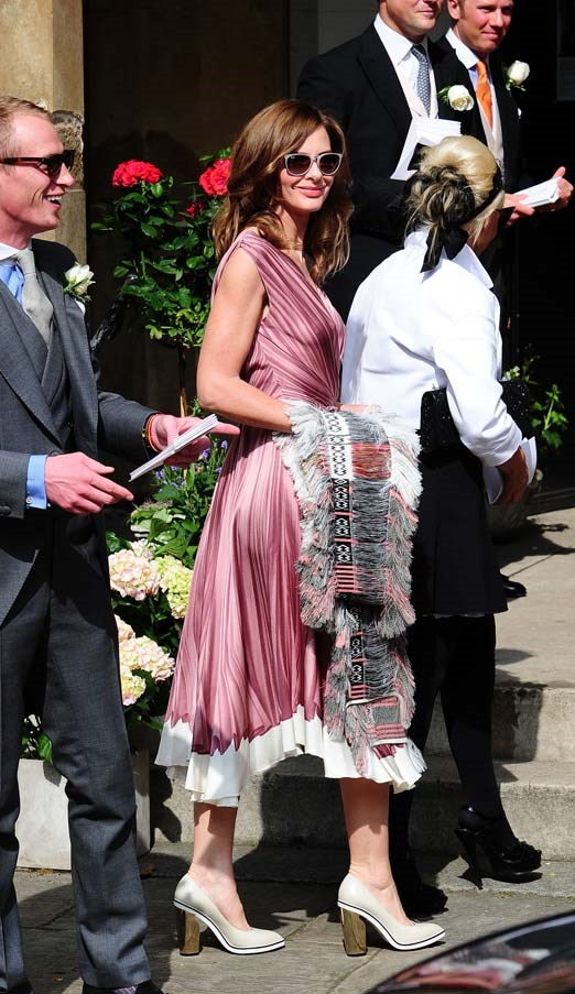 Trinny Woodall at the wedding of Poppy Delevingne