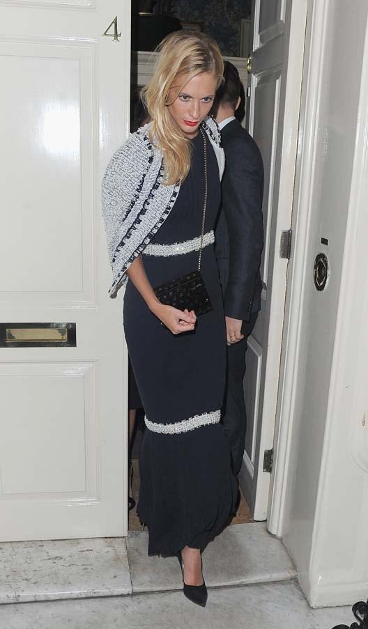 Poppy Delevingne in Chanel at the wedding of Chloe Delevingne