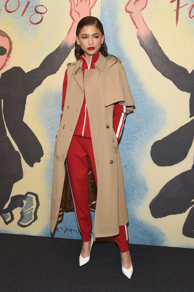 **1. Zendaya**   Lyst reports that Zendaya's influence is so strong that searches for 'red tracksuit' went up 43% after the 21-year-old was seen sporting the style at the Michael Kors show.
