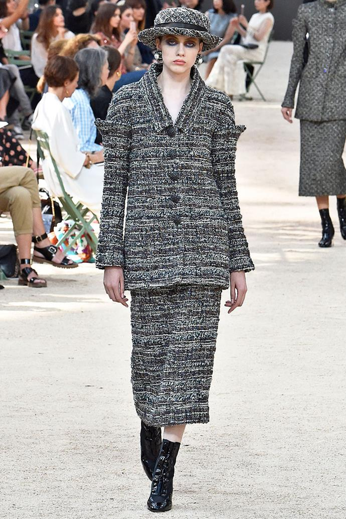 In Chanel Couture at *A Quiet Place* premiere.