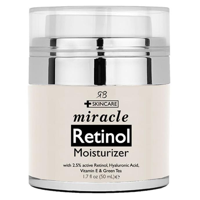 "[Radha Beauty Retinol Moisturiser from $50.](https://www.amazon.com.au/Miracle-Retinol-Moisturiser-cream-face/dp/B015ORL3B8/ref=sr_1_fkmr0_1?s=beauty&ie=UTF8&qid=1522905240&sr=1-1-fkmr0&keywords=Radha+Beauty+Retinol+Moisturizer+Cream+for+Face+and+Eye+Area|target=""_blank"")"
