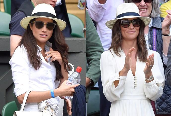 Meghan and Pippa at Wimbledon.