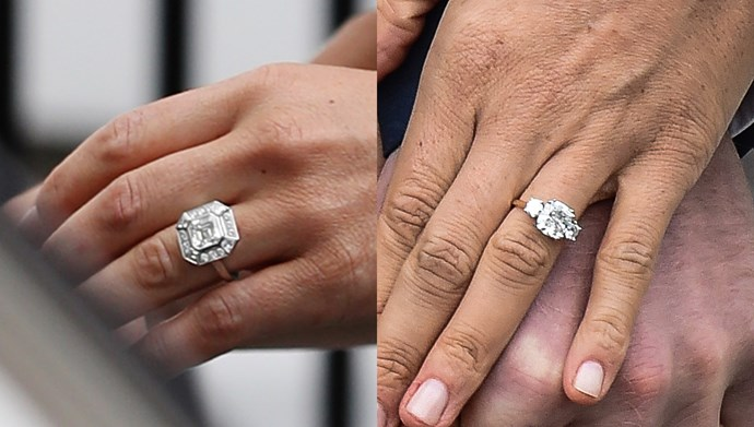 Meghan and Pippa's engagement rings both feature vintage elements.