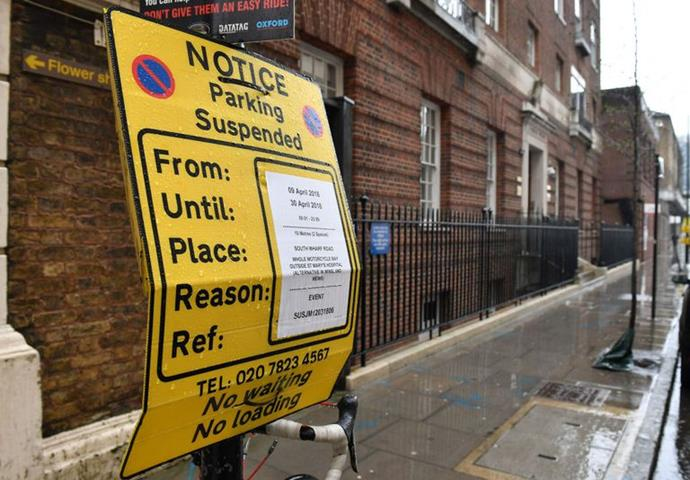 Parking restrictions are put in place