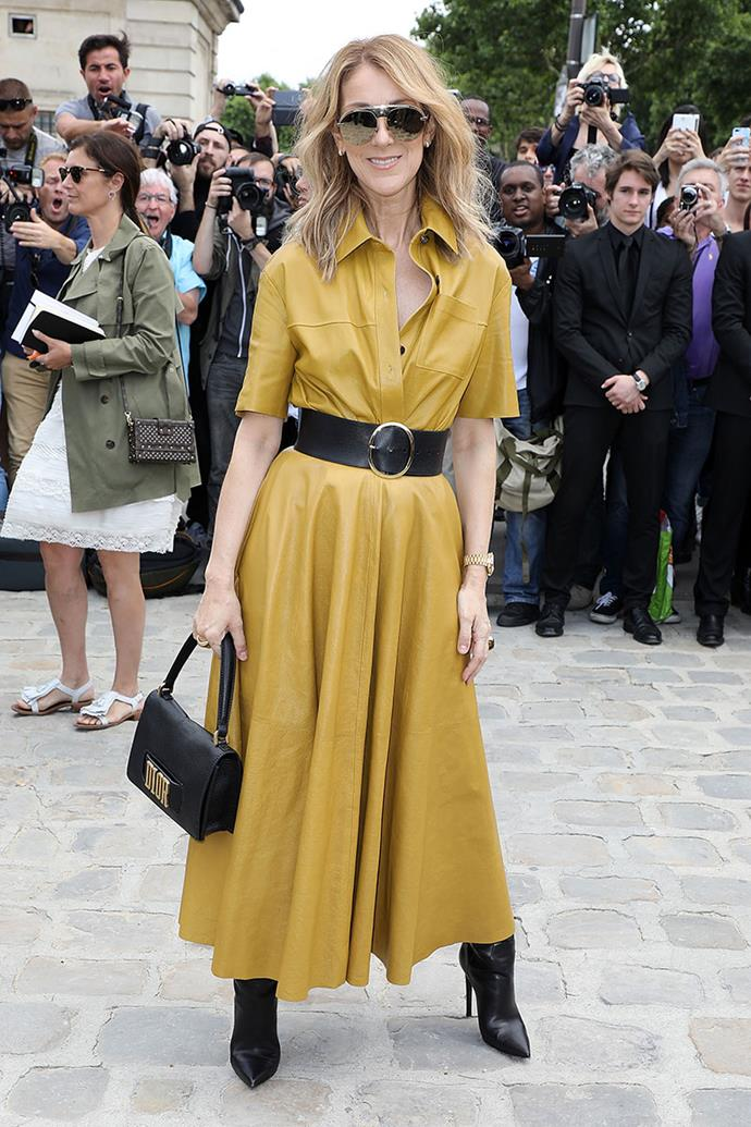 **Celine Dion**, *52* <br><br> From her reverse blazer from the 1999 Academy Awards, to her bright fuchsia power suits in 2020, fashion has never been lost on Celine Dion. Since the death of her husband, Rene Angelil in 2016, Dion has since sprung back into fashion icon status with the help of stylist Law Roach.
