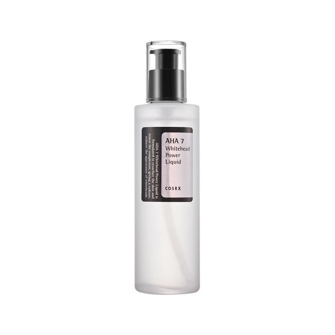"**If you like:** The Ordinary Glycolic Acid 7% Toning Solution  **Try:** CosRx AHA 7 Liquid, $23, at [Nudie Glow](https://nudieglow.com/products/cosrx-aha-7-whitehead-power-liquid|target=""_blank"")"