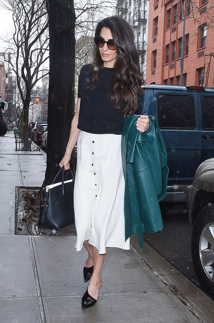 **What:** An Emilia Wickstead skirt, PETAR PETROV heels and a Dior handbag. <BR><BR>  **When:** April 3rd, 2018 <BR><BR>  **Where:*