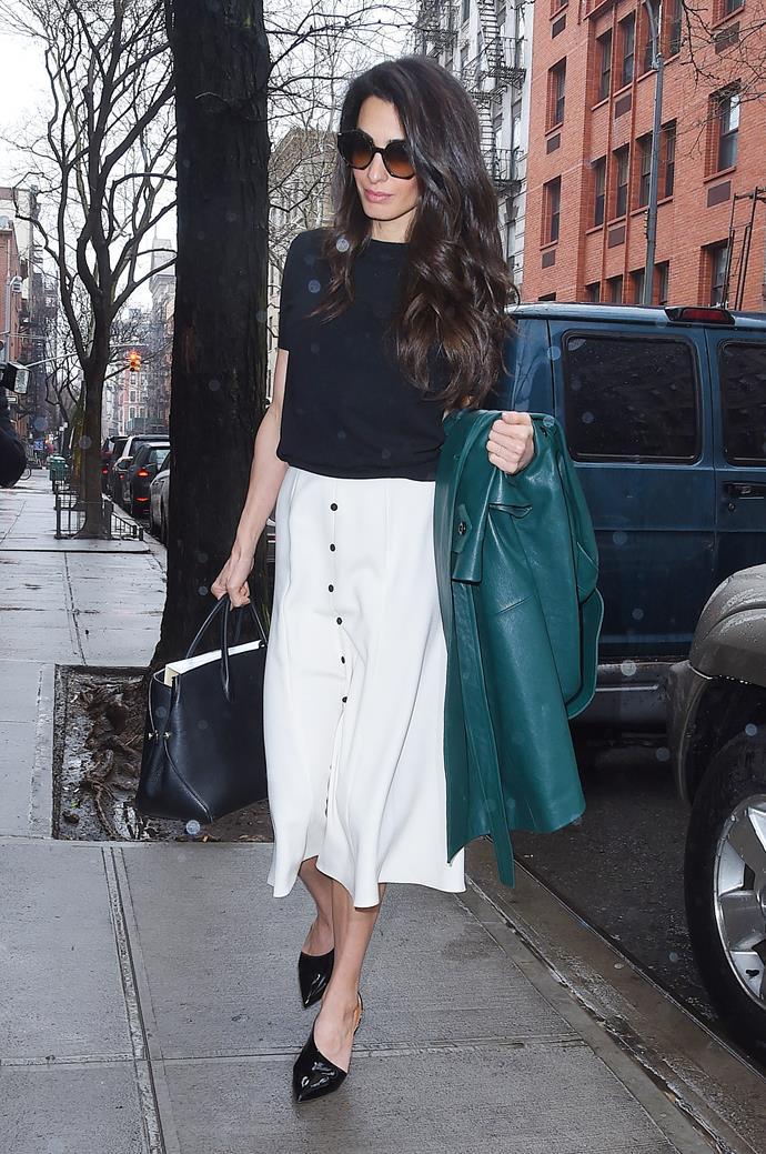 **What:** An Emilia Wickstead skirt, PETAR PETROV heels and a Dior handbag. <BR><BR>  **When:** April 3rd, 2018 <BR><BR>  **Where:*