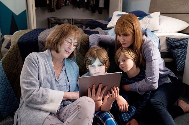 "Nicole Kidman shared the first look of Meryl Streep on season two. Streep will play Perry's grieving mother. <br><br> Image: [@nicolekidman](https://www.instagram.com/p/BhMrLYlFjfr/?taken-by=nicolekidman|target=""_blank"")"