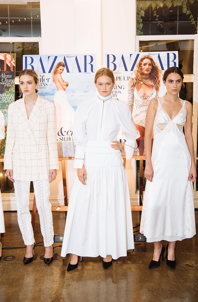 """White Hot: (from left) Zimmermann checked blazer and lace-trimmed pants; Ellery embroidered dress; Alexander Wang lace-panelled silk-satin gown all from [THE OUTNET.COM](https://ad.doubleclick.net/ddm/trackclk/N209203.285409HARPERBAZAARAU/B20846970.218258137;dc_trk_aid=416905616;dc_trk_cid=91776388;dc_lat=;dc_rdid=;tag_for_child_directed_treatment=