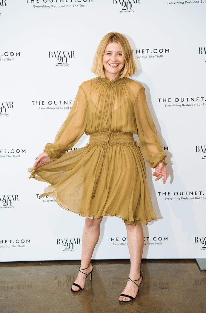 "*BAZAAR* Australia Editor Kellie Hush in Chloé dress from [THE OUTNET.COM](https://ad.doubleclick.net/ddm/trackclk/N209203.285409HARPERBAZAARAU/B20846970.218258131;dc_trk_aid=416905613;dc_trk_cid=91776388;dc_lat=;dc_rdid=;tag_for_child_directed_treatment=|target=""_blank""|rel=""nofollow"")."