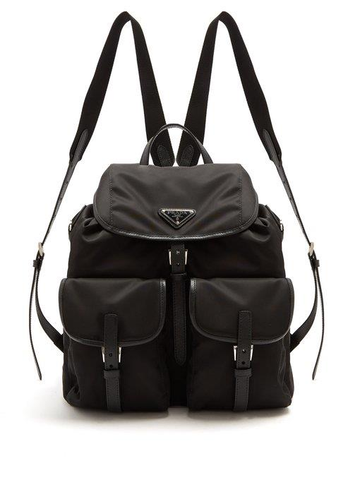 "**Prada Leather-Trimmed Nylon Backpack** <br><br> *$1,890, [MATCHESFASHION](https://www.matchesfashion.com/au/products/Prada-Classic-leather-trimmed-nylon-backpack-1189080|target=""_blank""|rel=""nofollow"")*"
