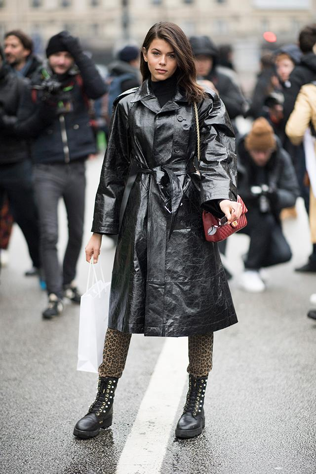 "Proof that a [PVC coat](https://www.harpersbazaar.com.au/fashion/coat-trends-2018-16175|target=""_blank"") should be on every woman's must-buy this winter."