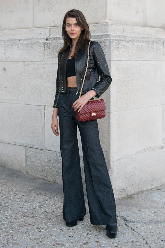 Tip: high-waisted flares, paired with platform heels, will make your legs look longer than ever before.