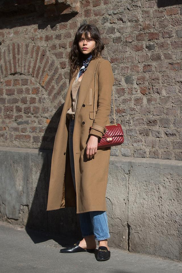 A classic winter ensemble every woman can wear. A camel coat is an essential.