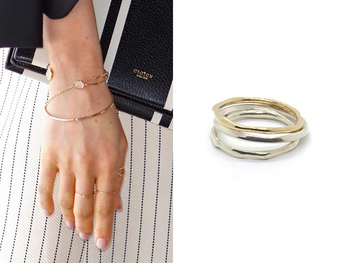 "At the Commonwealth Youth Forum on April 18, Meghan wore a Natalie Marie Jewellery ['Square Wire Ring'](https://www.nataliemariejewellery.com/collections/rings/products/square-wire-ring|target=""_blank""