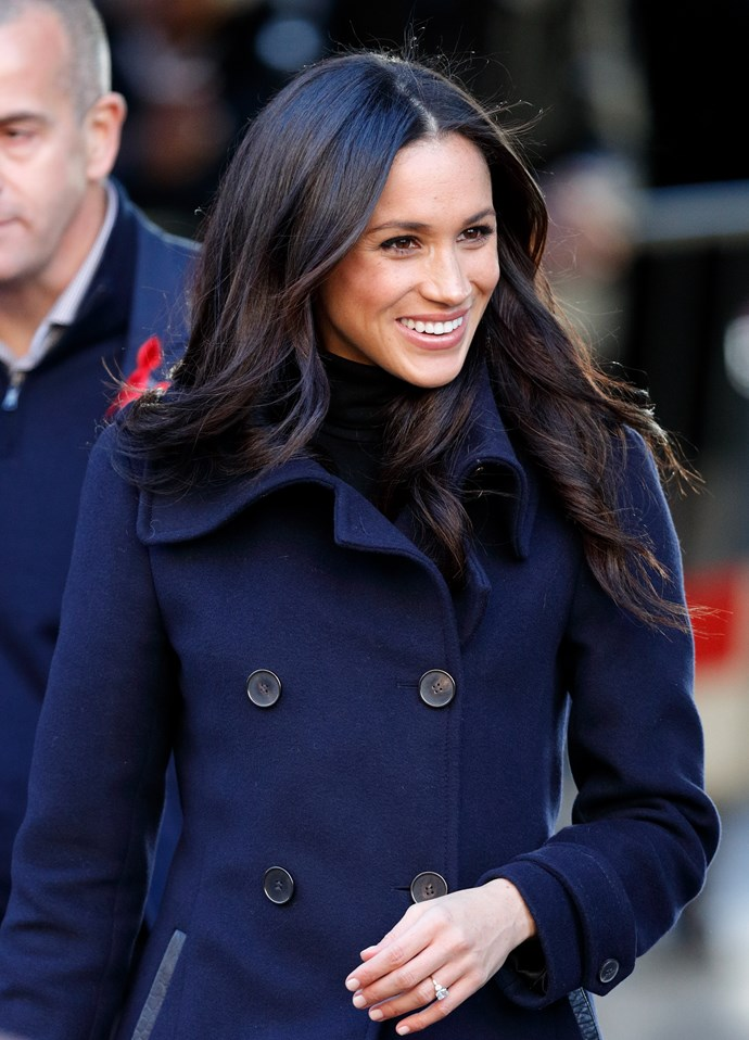 Meghan Markle in the Mackage Mai Coat.