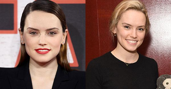 **Daisy Ridley**<br><br>  The *Star Wars* actress swapped her signature brunette locks for a light shade of blonde in late January