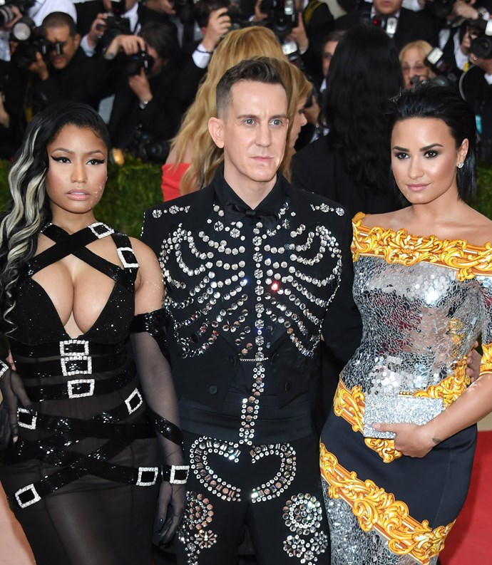 """**2016: DEMI LOVATO AND NICKI MINAJ** <br><br> In a 2018 [*Billboard*](https://www.billboard.com/articles/news/magazine-feature/8235911/demi-lovato-interview-billboard-cover-story-2018 target=""""_blank"""" rel=""""nofollow"""") profile, Demi Lovato elaborated on her lukewarm experience attending the 2016 gala (pictured in custom Moschino with Nicki Minaj and Jeremy Scott). She outlined the exclusive behaviour of a single celebrity, whom she declined to name; however, people were quick to assume Lovato was [talking about Nicki Minaj](http://people.com/music/did-demi-lovato-leave-met-gala-because-nicki-minaj/ target=""""_blank"""" rel=""""nofollow""""), who she attended with.  <br><br> A recovering alcoholic, Lovato said """"This one celebrity was a complete b---h and was miserable to be around. It was very cliquey. I remember being so uncomfortable that I wanted to drink."""" <br><br> Later in the interview, Lovato said she attended an AA meeting after the gala, and that she """"related more to the homeless people in that meeting who struggled with the same struggles that I deal with than the people at the Met Gala—fake and sucking the fashion industry's d--k."""""""