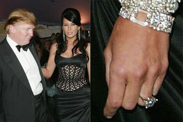 """**2004: DONALD TRUMP'S PROPOSAL TO MELANIA** <br><br> They're one of the world's most ogled couples in 2018—often for less-than-favourable reasons—but it's a little-known fact that billionaire developer (and future President) Donald Trump proposed to wife Melania Trump (née Knauss) at the 2004 Met Gala.  <br><br> Donald popped the question to the future FLOTUS with an [AU$2.4 million ring](https://www.huffingtonpost.com.au/entry/donald-trump-proposed-met-gala_us_5907a36de4b0bb2d0870893b