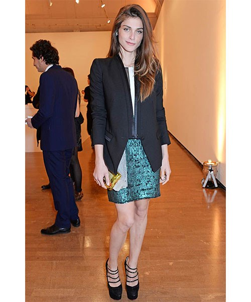 <strong>A BLACK BLAZER</strong> <br>Worn with everything from jeans and a t-shirt to an evening suit or silky slip, the black blazer is one of the key pieces in high rotation in a French girl's wardrobe. <br>Elisa Sednaoui