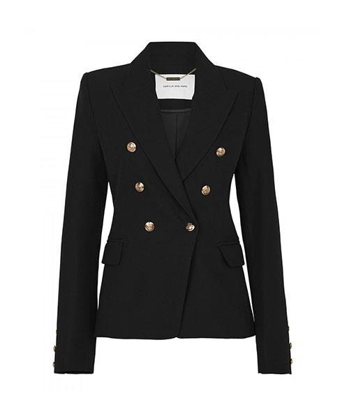 """Dimmer Blazer, $699, at [Camilla and Marc](https://www.camillaandmarc.com/dimmer-blazer-black-26033.html