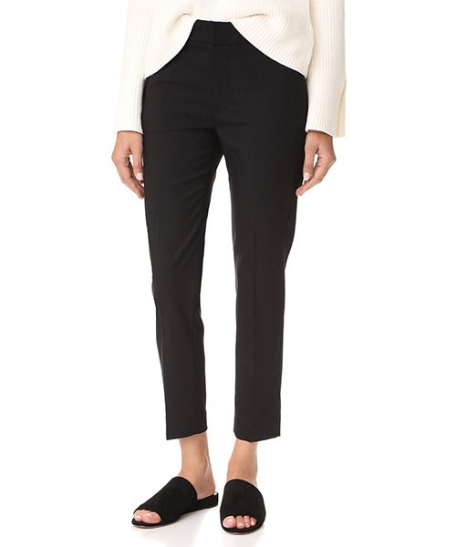 """Vince Tapered Trousers, $384, at [Shopbop](https://www.shopbop.com/tapered-trousers-vince/vp/v=1/1547378287.htm?folderID=13281&fm=other-shopbysize-viewall&os=false&colorId=12867