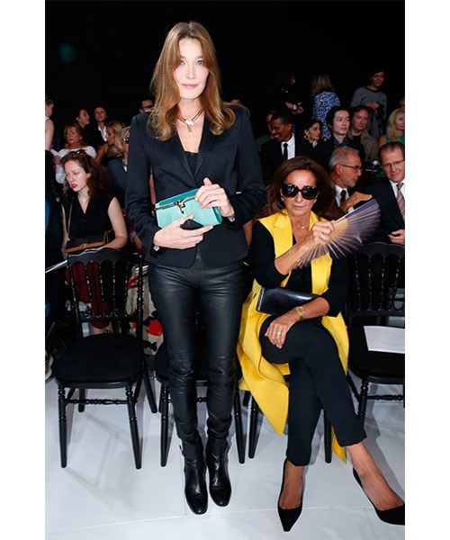 <strong>LEATHER TROUSERS</strong> <br>Sleek and chic, leather pants are a dressier alternative to the denim with the same effortless appeal. <br><em>Carla Bruni</em>