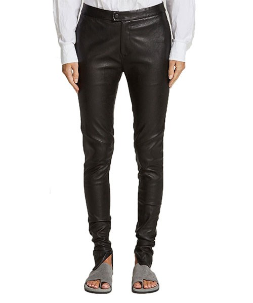 "Bassike Leather Skinny Pants, $1,595, at [Net-A-Porter](https://www.net-a-porter.com/au/en/product/996269/bassike/leather-skinny-pants|target=""_blank"")."