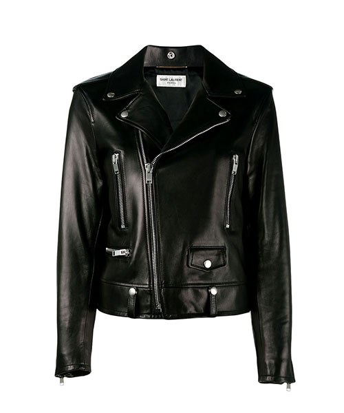 "Saint Laurent Classic Motorcycle Jacket, $7,147, at [FWRD](http://www.fwrd.com/product-saint-laurent-classic-motorcycle-jacket/SLAU-WO54/?d=Womens&itrownum=6&itcurrpage=1&itview=01|target=""_blank"")."