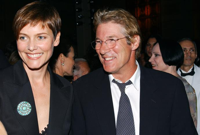 Richard Gere and ex-wife Carey Lowell in 2001.