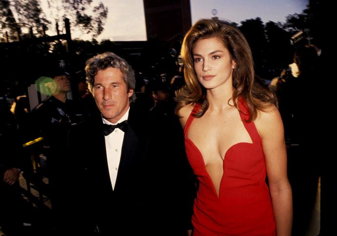 Richard Gere and ex-wife Cindy Crawford at the 1991 Academy Awards.