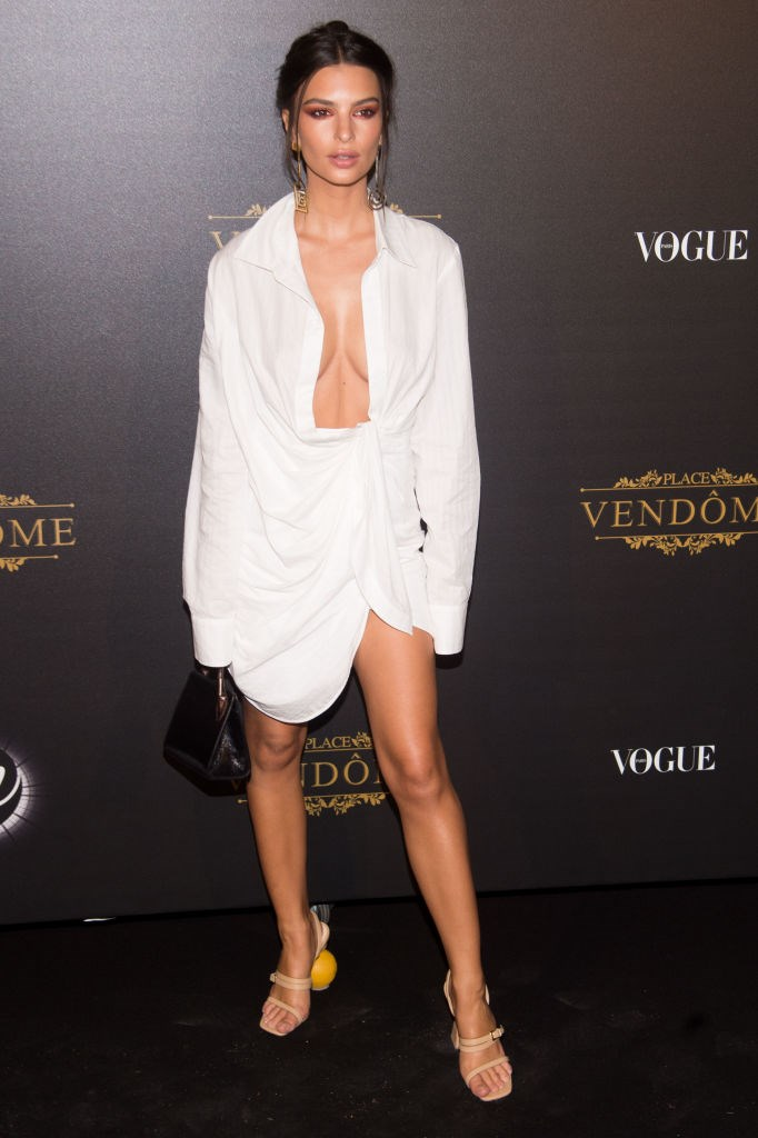 Emily Ratajkowski at the Vogue Party in October 2017.