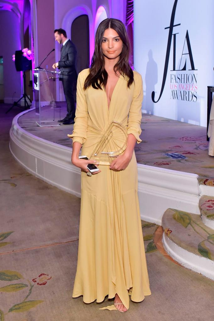 Emily Ratajkowski at the The Daily Front Row's 4th Annual Fashion in April 2018.
