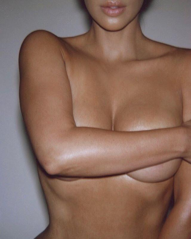 Kim Kardashian West nude for KKW Body.
