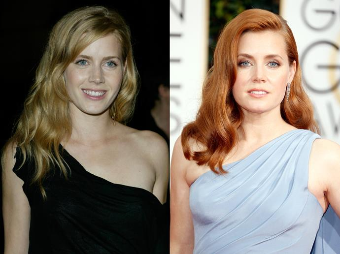 "***Amy Adams***<br><Br> Up until her Oscar-nominated role in *Junebug* in 2005, Amy Adams had blonde hair. The actress switched up her colour for the role, and has kept it ever since.<br><br> ""Based on roles that I was getting called in for, people were responding to certain types of characters with me as a blonde,"" Adams told *Allure*. ""The minute I went red, it was quirky and fun instead of flirtatious and dumb.<br><br> ""It really changed things up. People began to see me in a different way, for different roles."""