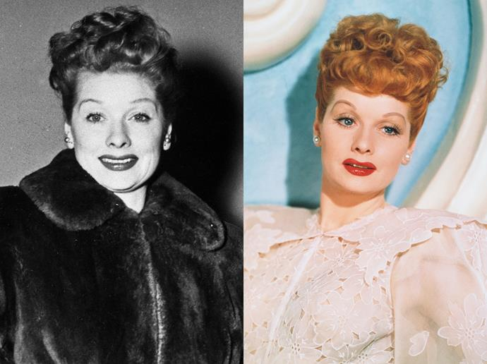 "***Lucille Ball***<br><br> In the very beginning of her career, Lucille Ball worked both as a blonde and as a brunette (her natural colour). Before landing the role of Lucy in *I Love Lucy* (which called for a redhead), Lucille dyed her hair — with henna! <br><br> ""Lucy's hair was a golden apricot color, and she used a henna rinse to achieve it,"" said Irma Kusley,  ""She met a very wealthy sheik who had heard about her problem getting the right colouring. He said he would send her a lifetime supply of henna, which he did! We kept it in my garage, locked away in a safe."""